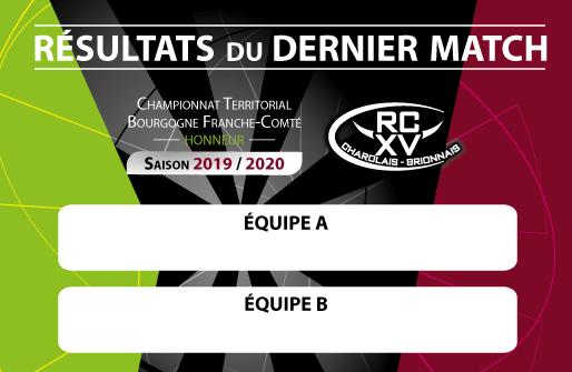Résultat match 2019 2020 RCXV Charolais Brionnais